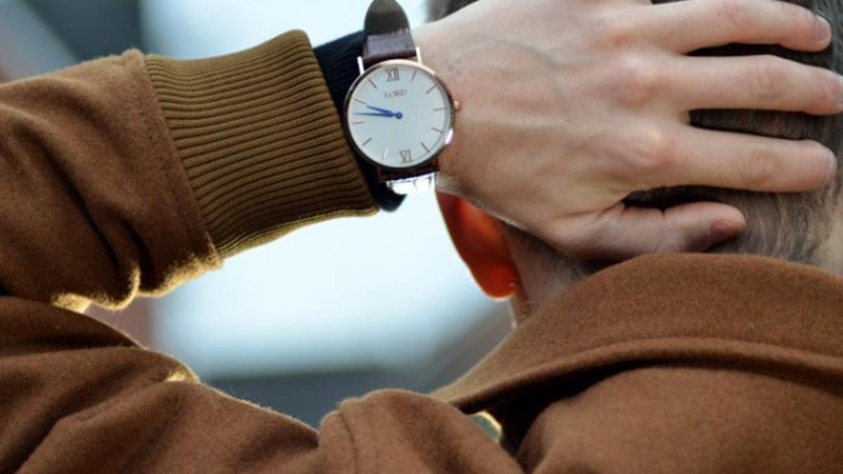 Time piece on wrist