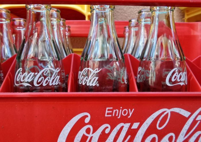 Crate of Coca Cola Bottles