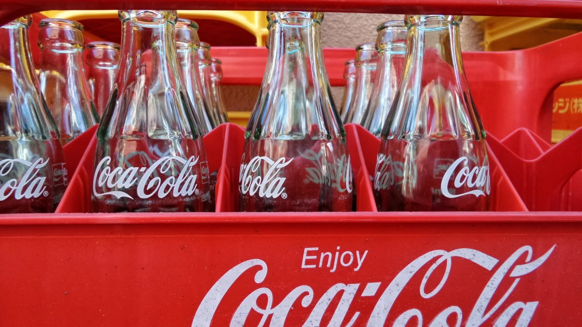 Crate of Coca Cola Bottles