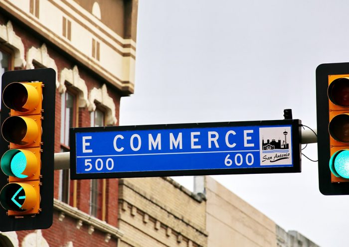 Sign Showing Ecommerce Boulevard